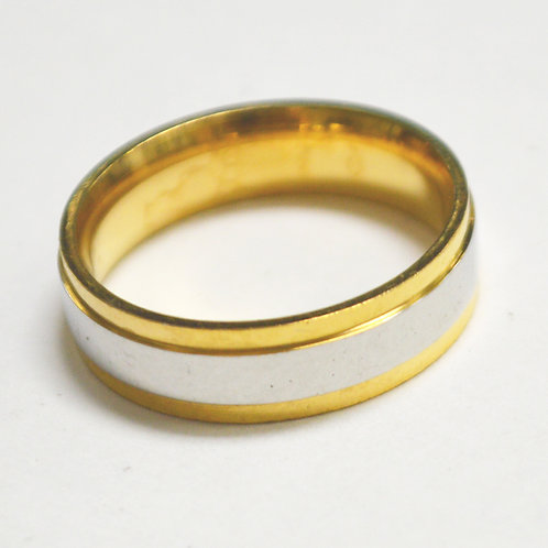 2 Tone Gold IP Plated Ring 81-1415