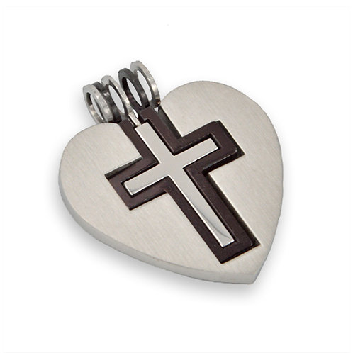 Cross Heart Pendant 86X-123