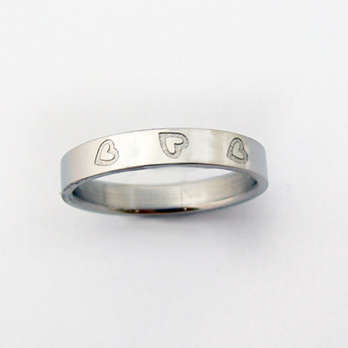 STAINLESS STEEL RING (4mm) 81-435