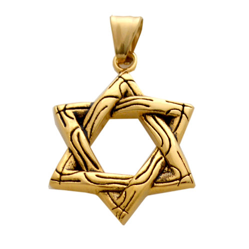 STAR of David Gold Plated Pendant 86-1956G
