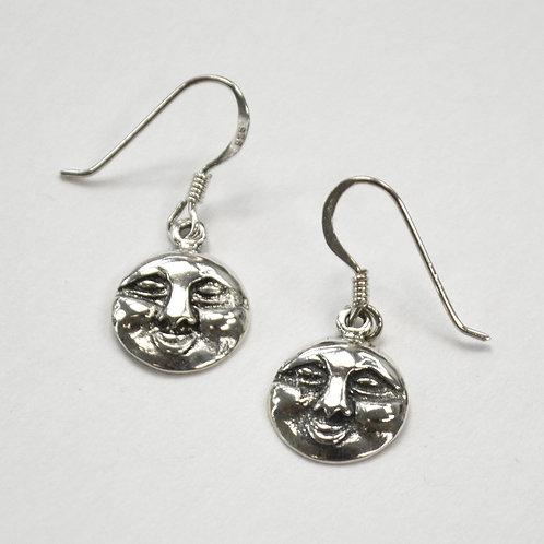 Moon Sterling Silver Earrings 535249