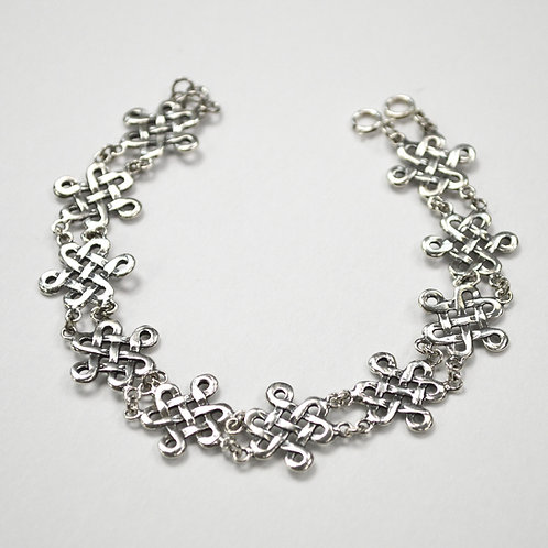 Celtic Design Sterling Silver Bracelet 542051