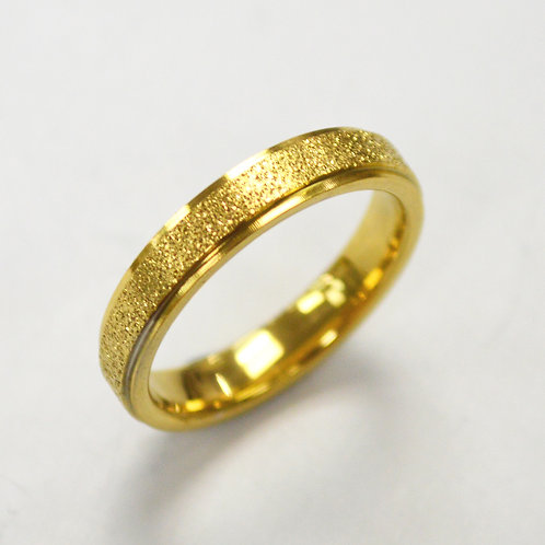Glitter Gold IP Plated  Ring 81-1352G-4