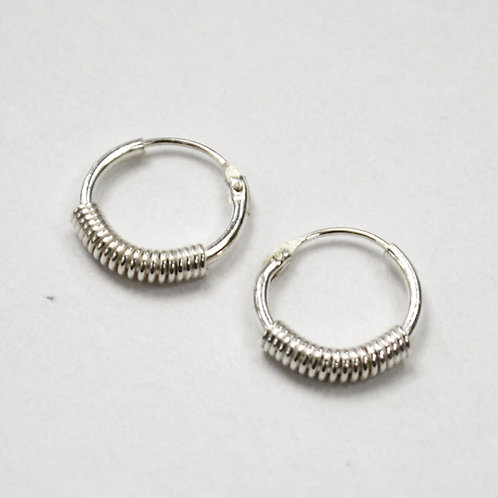 Hoop Sterling Silver Earrings 532052