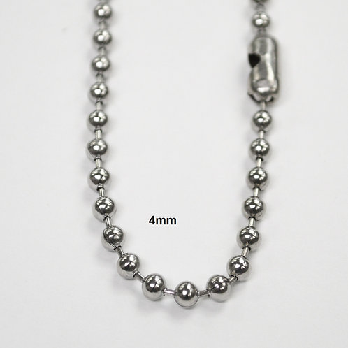 4m Bead Stainless Steel