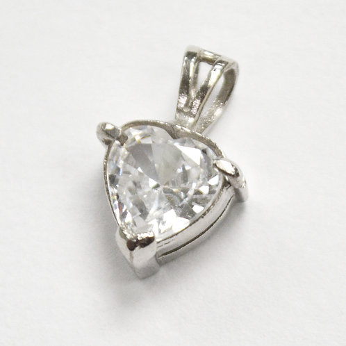 CZ Stone Pendant Sterling Silver 562050