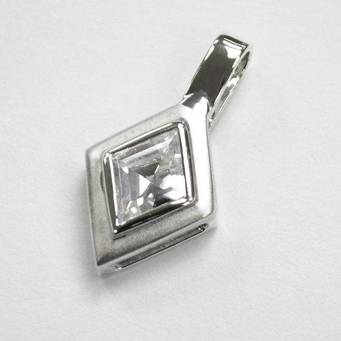 CZ Stone Pendant Sterling Silver 562025