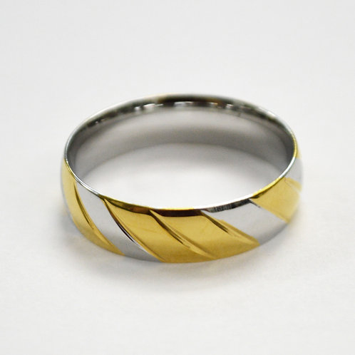 2 Tone Gold IP Plated Design Ring 81-1350