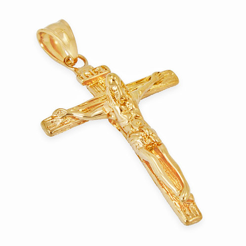 CRUCIFIX GOLD IP PLATED Pendant (32x46mm)
