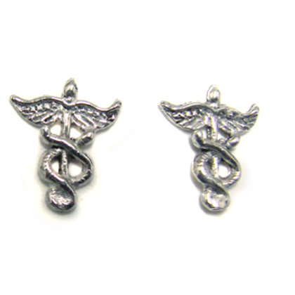 Medical Symbol Stud Earring Sterling Silver 535081