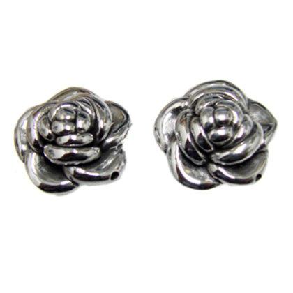Rose Sterling Silver Earring 531088
