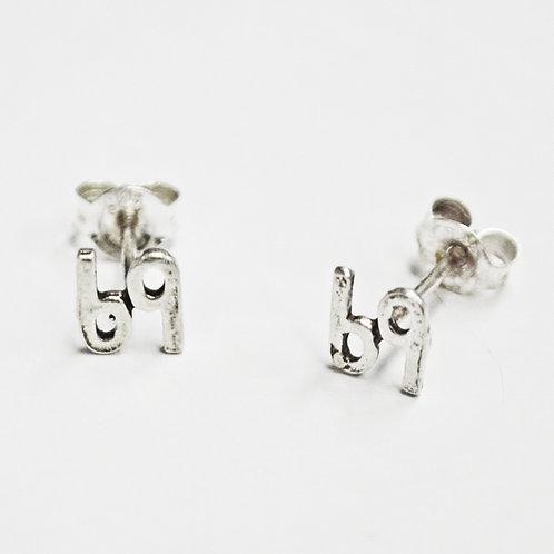 69 Stud Earring