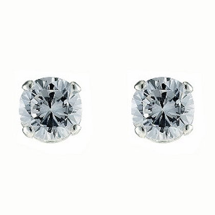 6m.  Round CZ Stud Earrings 53-013-6