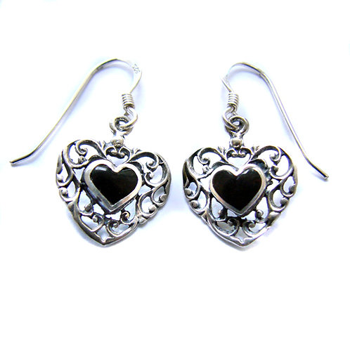 Heart Sterling Silver Earrings 535252