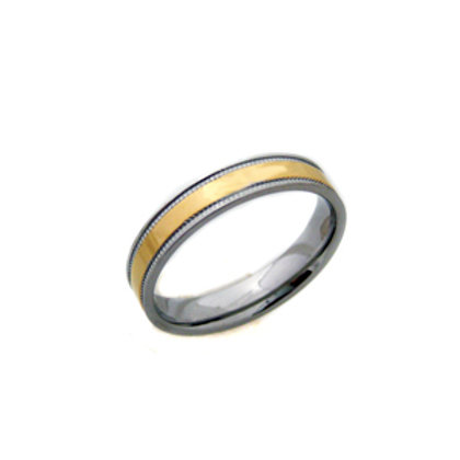 2 Tone Gold Ring (4mm) 81-410