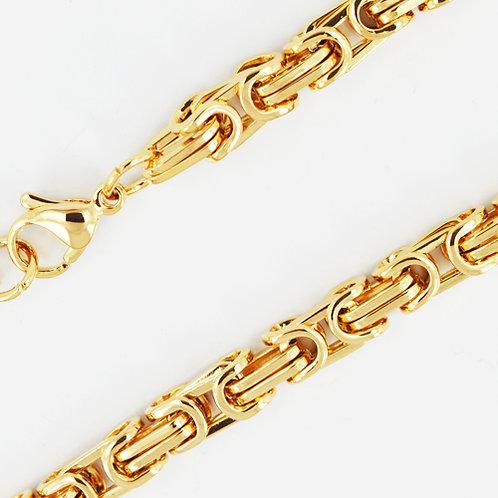7mm Gold IP Plated Byzentine Chain