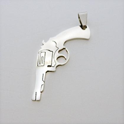 Pistol Gun Pendant Stainless Steel 86-227