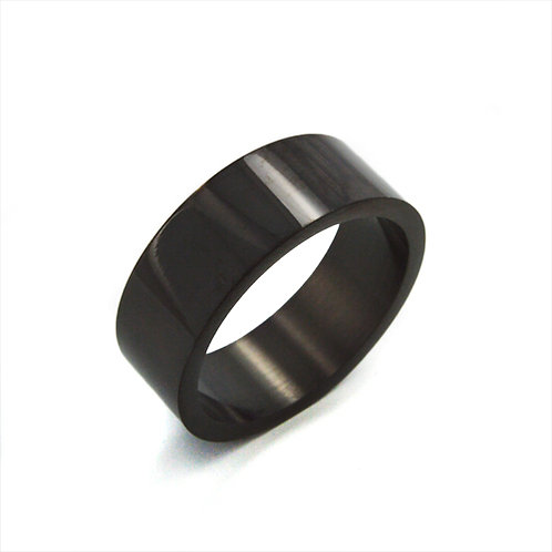 Flat Black Plated Ring (8mm) 81-215-8