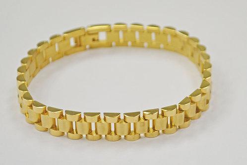 Designer Inspired Gold IP Plate  Bracelet 84-1784G-10
