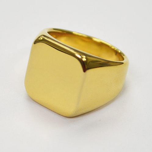 SIGNET RINGS Gold IP Plated  81-820G