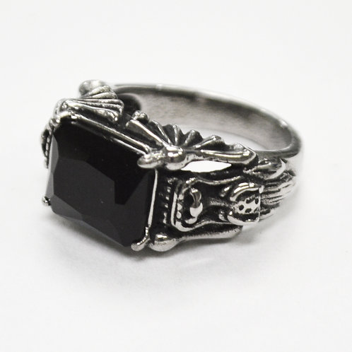 Black CZ Stone  Ring 81-1407