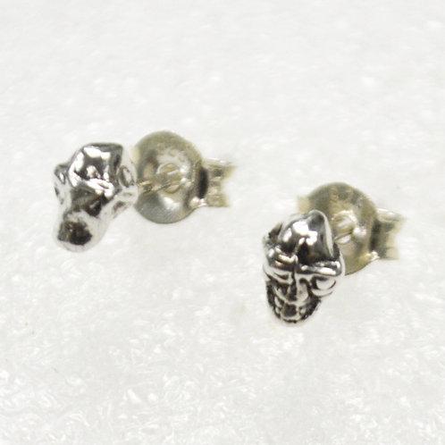 Skull Head Stud Earring Sterling Silver 535190