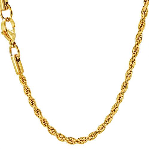 3mm Gold IP Plate Rope
