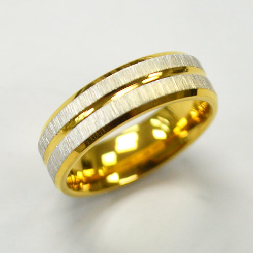 Gold IP Plated RING 81-1243G