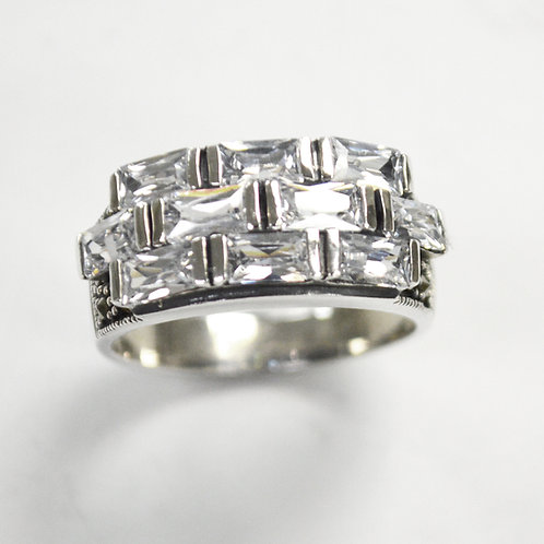 Sterling Silver CZ Ring  512080