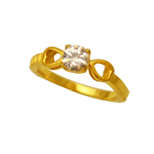 CZ GOLD PLATE RING  81-1197