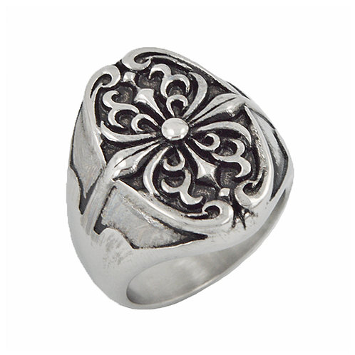 Decorative Stainless Steel Ring (18x24mm) 81-1018