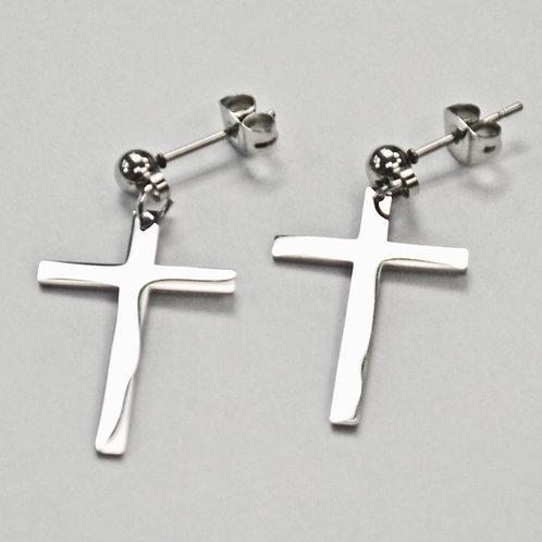Cross Dangling Post Earrings  83-759S