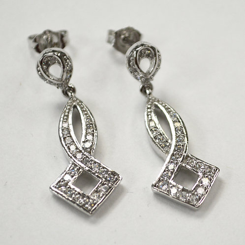Designer Inspired Sterling Silver Earrings 533006