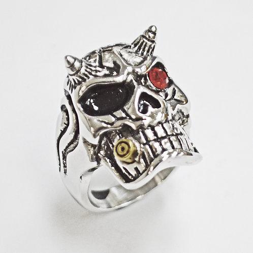 Skull with Horn Ring (27mm) 81-1220
