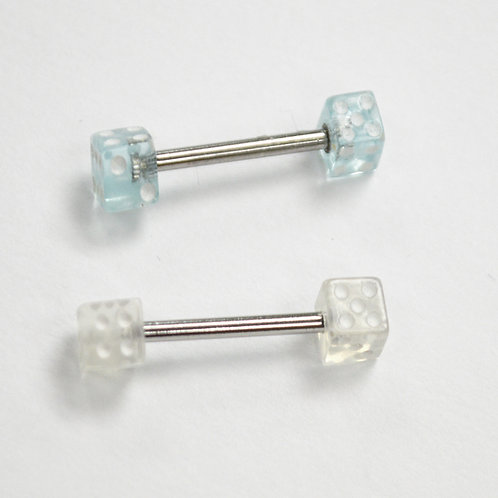 Dice Barbell Body Jewelry  (2 Pcs @ $0.60ea)