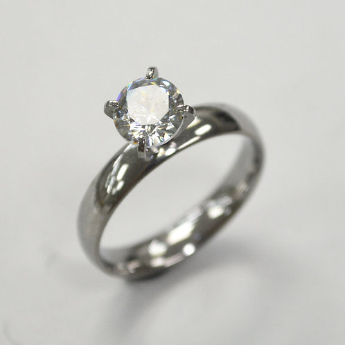 CZ Stone Stainless Steel Ring 81-1379S