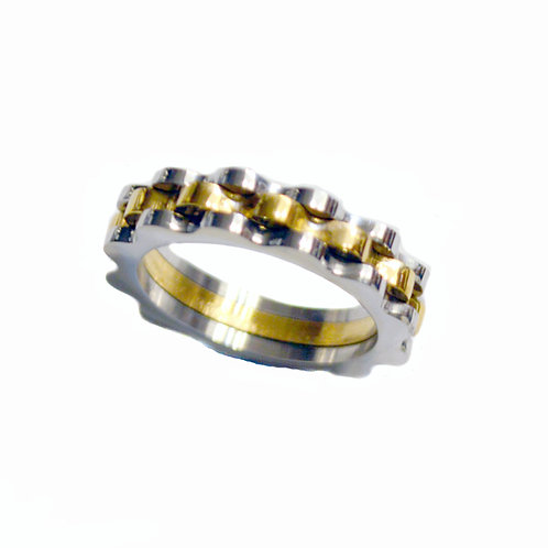 2 TONE GOLD DECORATIVE RING (5mm) 81-1164-2T