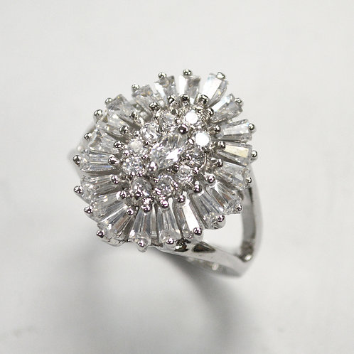 Multi Stone CZ Ring Sterling Silver 512026