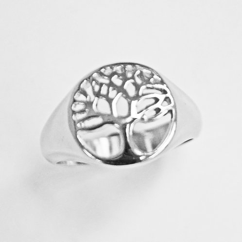 Tree of Life Stainless Steel Ring (14mm) 81-1205-CO
