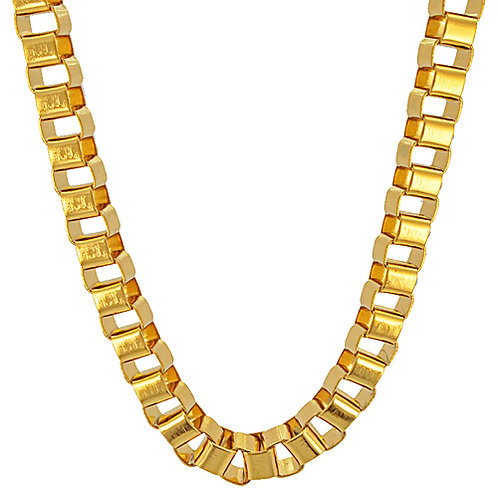 6m Box Gold IP Plate Chain
