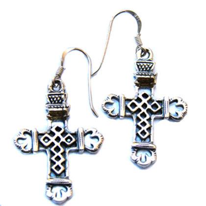 Cross Sterling Silver Earrings 531061