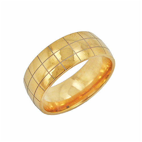 Gold IP Plate Ring (8mm) 81-944