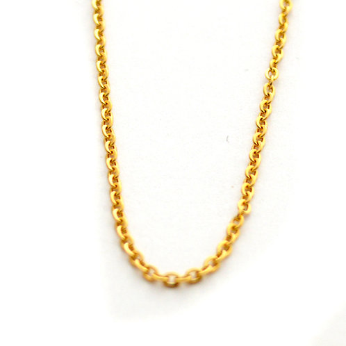 1.5m Flat Anchor Gold IP Plate Chain