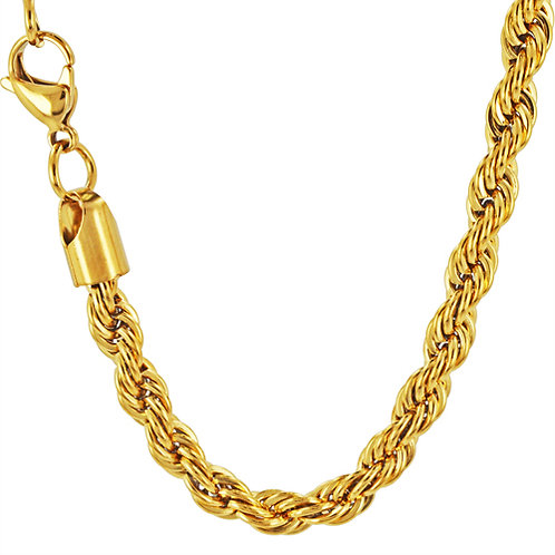 8mm Gold  IP Plated Rope 85-143G-8