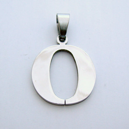 O Initial Pendant Stainless Steel  86-278O