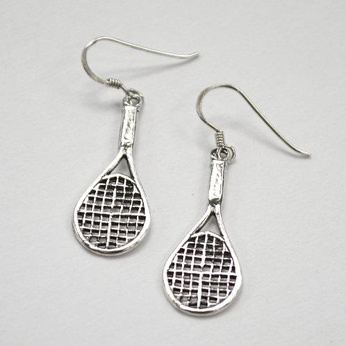 Tennis Racket Sterling Silver Earrings 535250