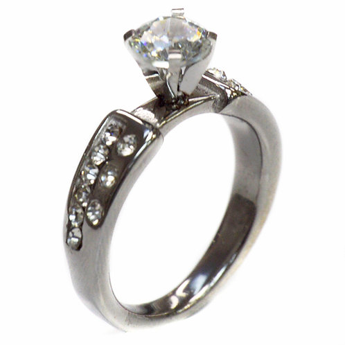 CZ  Stainless Steel Ring (6mm) 81-859