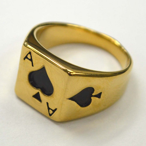 Playing Card Gold Plated  Ring(13x14mm) 81-1245G