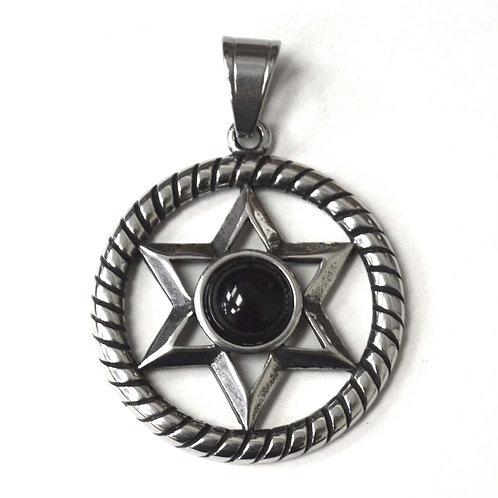 Star of David Stainless Steel Pendant 86-2433