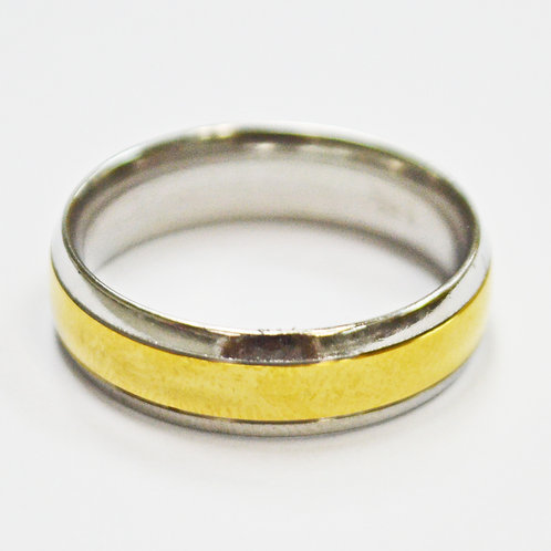 2 Tone Gold Ring Stainless Steel (6mm) 81-248